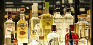 Alkohole na półce