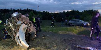 Zniszczony podczas wypadku samochód
