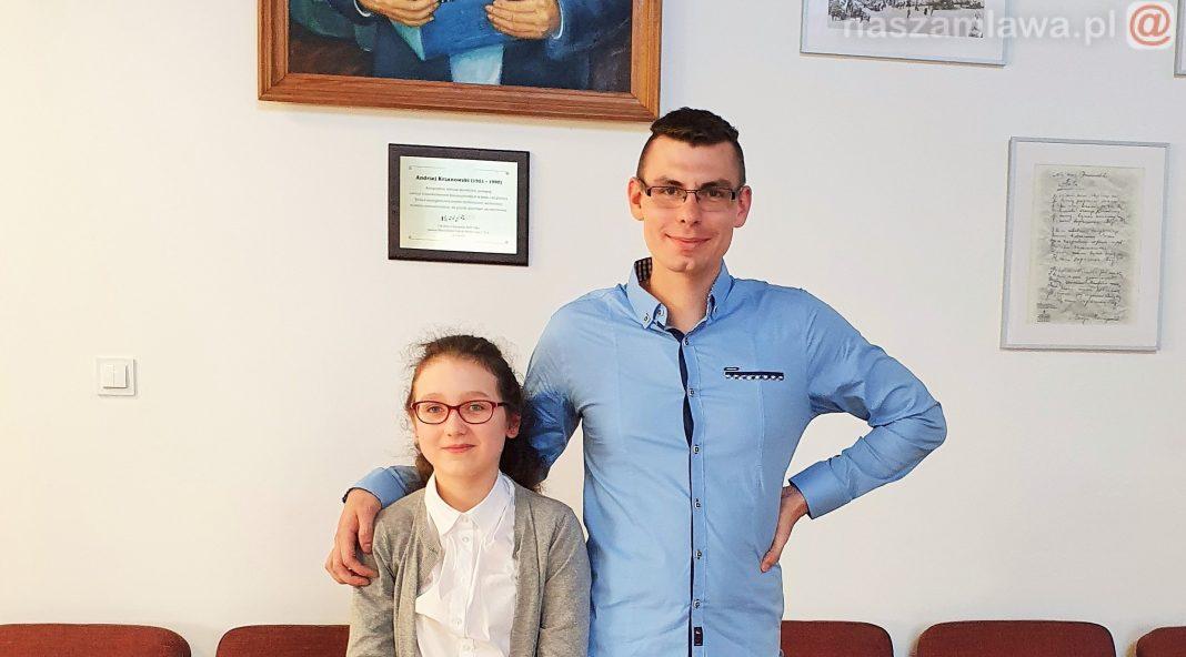 Maja Szczepańska i mgr Karol Janik