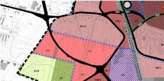 mapa zaprezentowana przez burmistrza na sesji