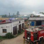 Budynki po pożarze