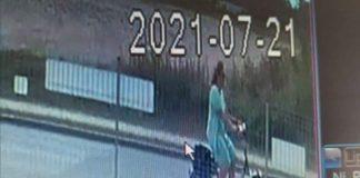 Wizerunek kobiety podejrzanej o kradzież psa