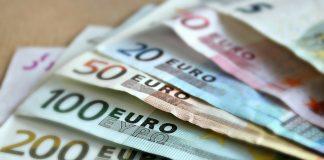 Wachlarz banknotów Euro