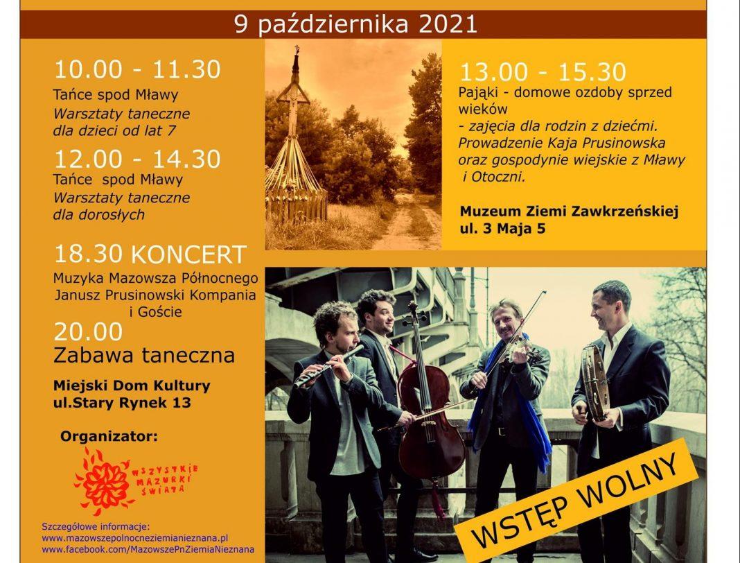 Plakat promujący Festiwal Mazowsze Północne