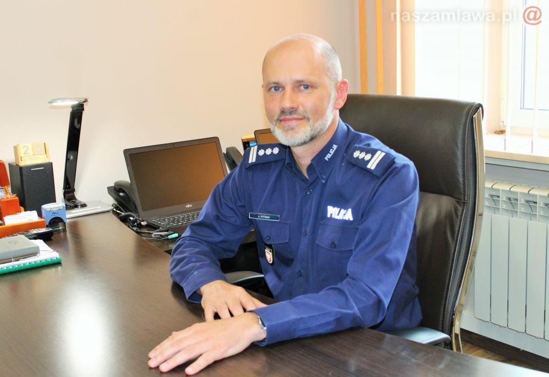 Komendant Powiatowy Policji w Mławie, insp. Artur Ryfiński