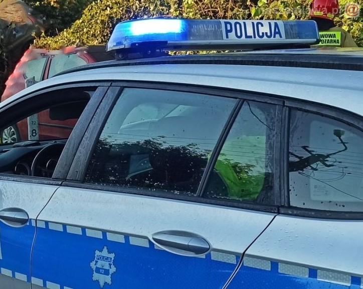 Oznakowany policyjny radiowóz