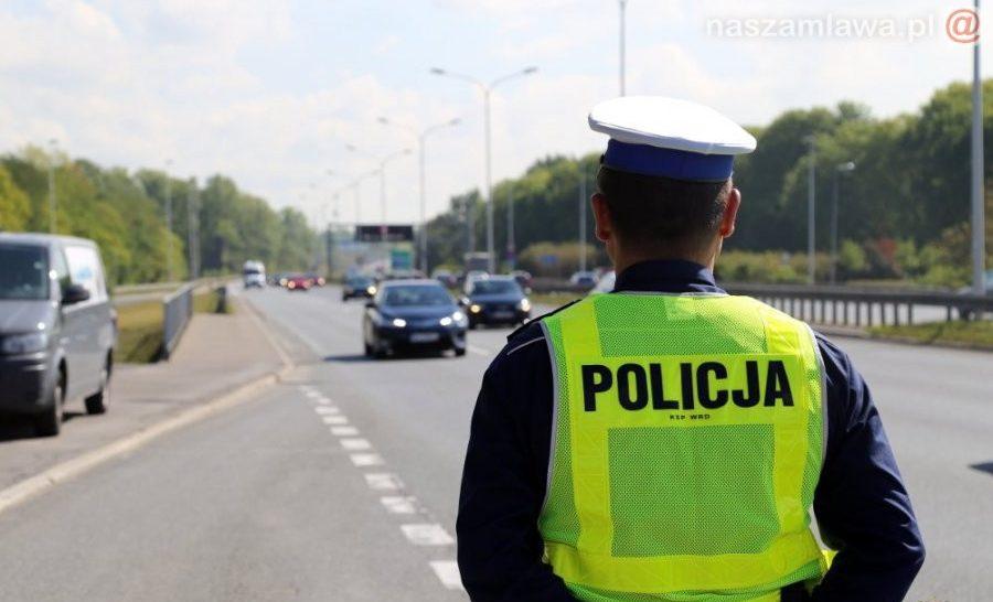 policyjna kontrola drogowa