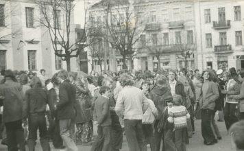 Mieszkańcy Mławy. Archiwalna fotografia
