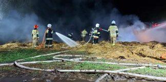 Akcja ratunkowa podczas pożaru