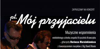 Plakat na koncert piosenek Krzysztofa Krawczyka