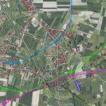 Mapa wariantów obwodnicy Ciechanowa