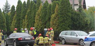 Uszkodzone wskutek wypadku samochody